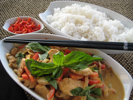 Thai Basil with Chicken Curry
