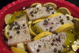 Halibut poached in olive oil 2