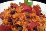 rice and beans w sausage
