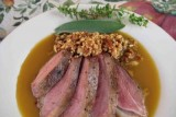 duck breasts w almonds