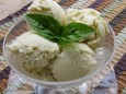 corn & basil ice cream