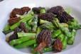 asparagus w morels