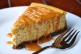 pumpkin cheesecake w caramel sauce