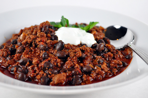 Chipotle chili with lime crema
