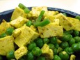 curried tofu & peas
