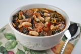 pork bean kale stew