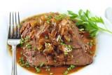 beef rump roast w onion gravy