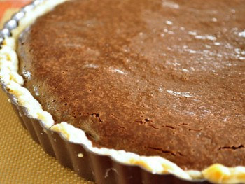 orange-choc-banana tart