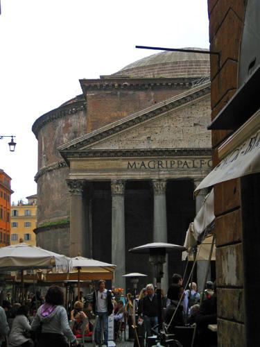 rome pantheon half