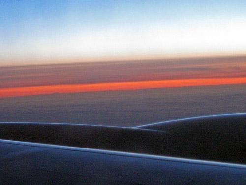 sunrise into Italy