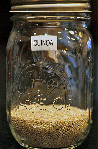 quinoa in jar