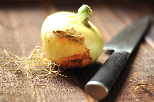 onion with knife