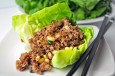 minted pork lettuce wraps