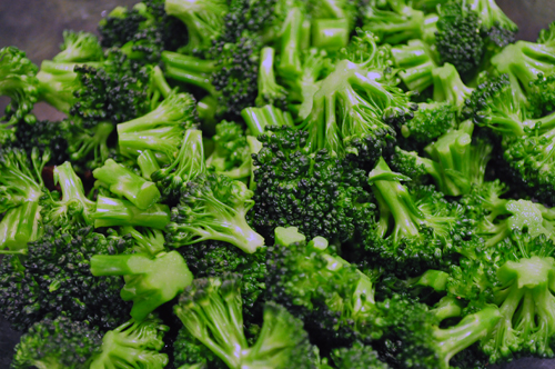 broccoli florets blanched