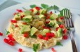 open faced mexican omelet