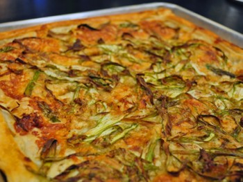 asparagus and gruyere puff pastry tart