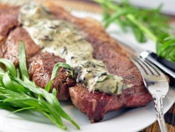 pork-blade-steak-with-tarragon-mushroom-cream-sauce