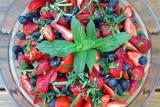 berries w mint and lemon