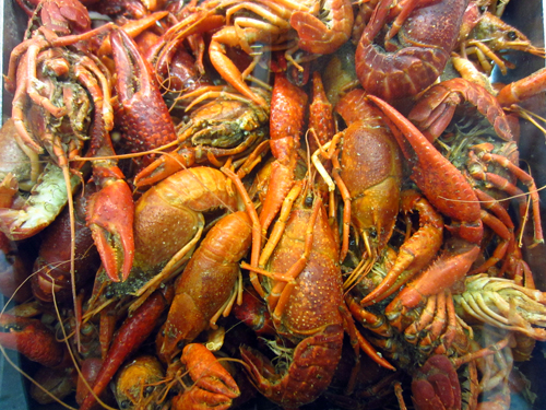 crawfish from the sweet auburn curb market in atlanta