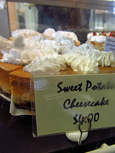 sweet potato cheesecake from sweet auburn curb market in atlanta