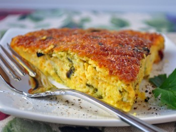 egg casserole with green chiles and cheese for breakfast or brunch