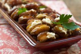 dates stuffed with almonds and feta