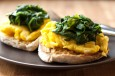 florentine-eggs-on-english-muffins