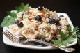 chicken salad with blueberries and almonds