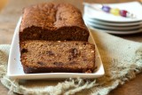 banana bread with chocolate chips and hazelnuts
