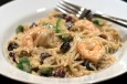 shrimp and avocado pasta with cream sauce