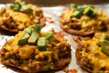 tostados with pulled pork