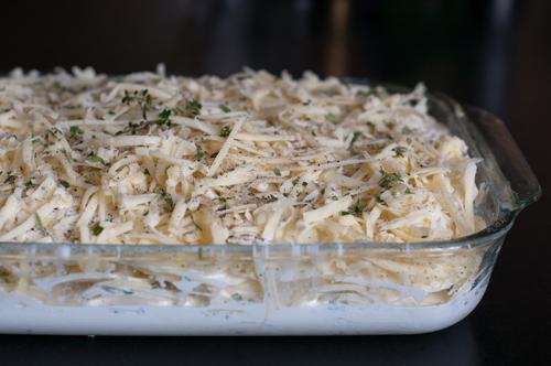 potato gratin uncooked