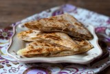 apple and brie quesadillas
