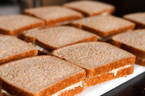 tea sandwiches uncut