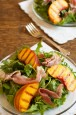 Grilled Peach and Rocket Salad