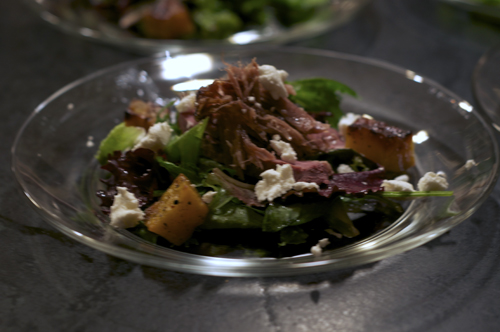 duck breast and confit salad