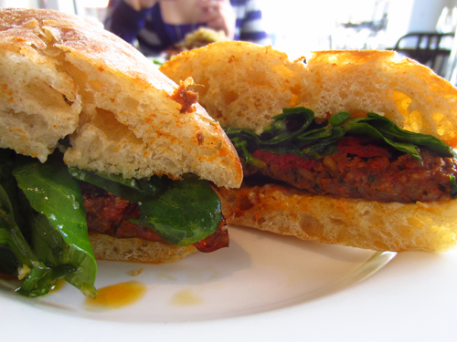 kitchen denver lamb sandwich with arugula