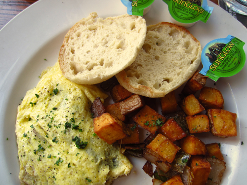 mcloughlins omelet and hash browns