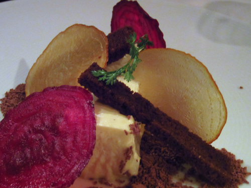 barolo grill mousse with beet chips