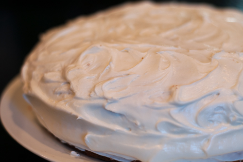 carrot spice cake with lemon cream cheese frosting