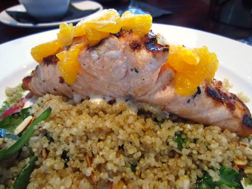 hodsons salmon on quinoa