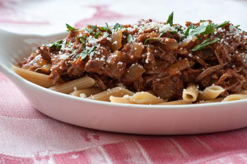 lamb ragu and pasta