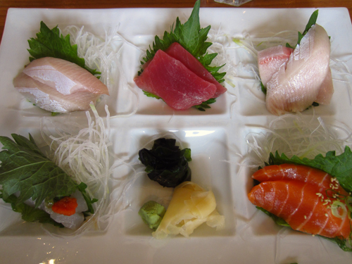 sushi den sashimi lunch