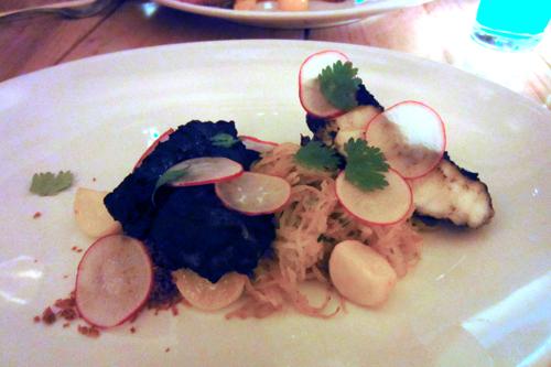 ma peche new york monkfish mole spaghetti squash