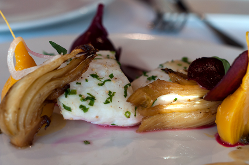 opus halibut with beets