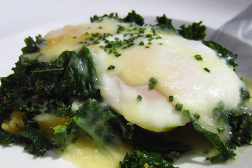 pera soho new york baked eggs with kale and polenta