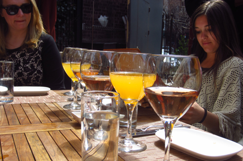 pera soho new york mimosas and rose wine