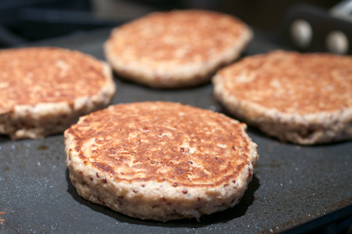quinoa pancakes cooking 1
