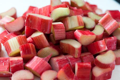 rhubarb sliced