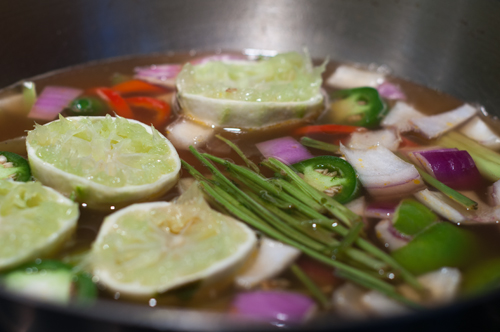 shrimp soup broth flavor infusion